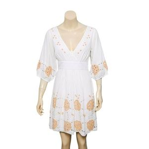 10138 Free People Floral Embroidered Mini Dress XS